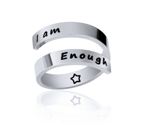 i am enough ring sample image from customer