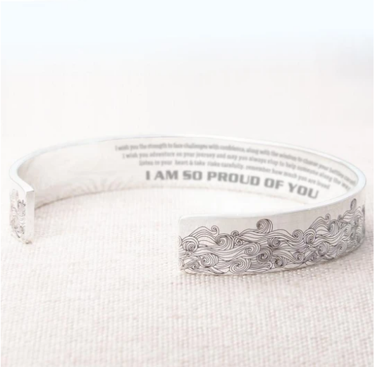 I am so proud of you bracelet with Message Card