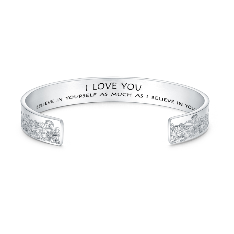 I LOVE YOU BELIEVE IN YOURSELF AS MUCH AS I BELIEVE IN YOU NEW BRACELET