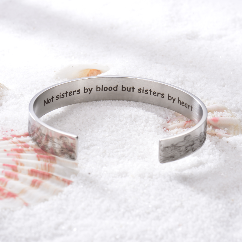 Not Sisters By Blood But Sisters By Heart NEW BRACELET