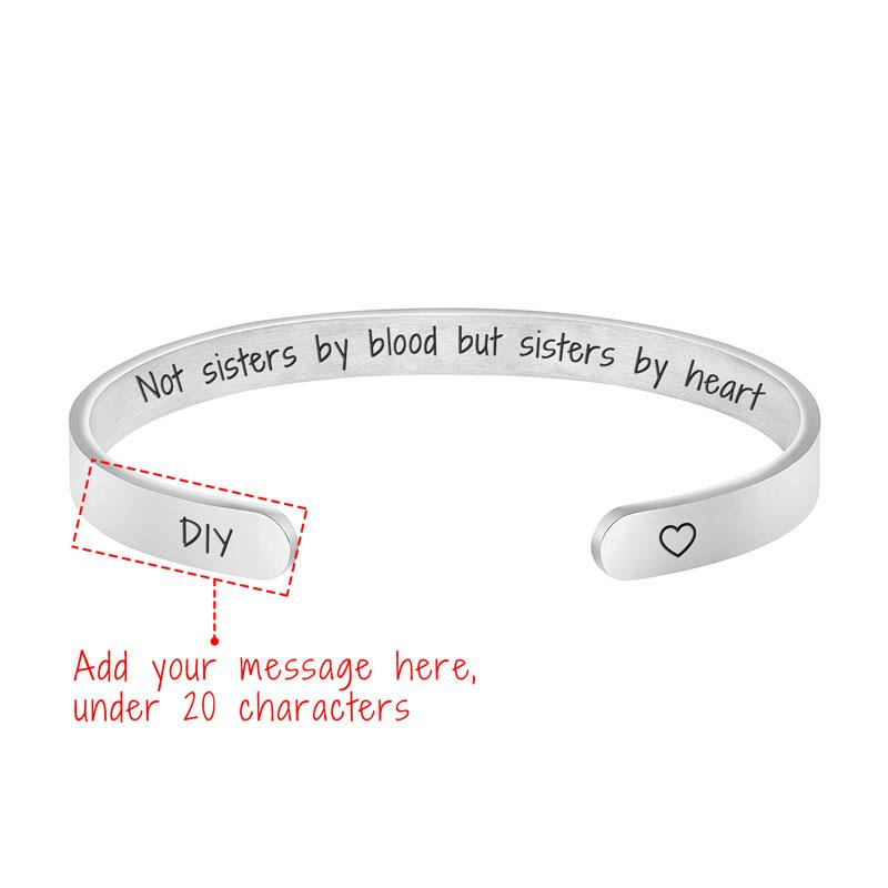 NOT SISTERS BY BLOOD BUT SISTERS BY HEART (CUSTOMIZE)