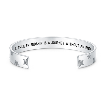 A TRUE FRIENDSHIP IS A JOURNEY WITHOUT AN END STARS BANGLE