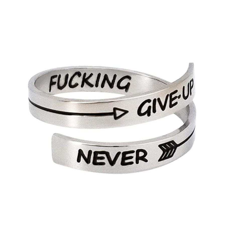 NEVER FUCKING GIVE UP RING