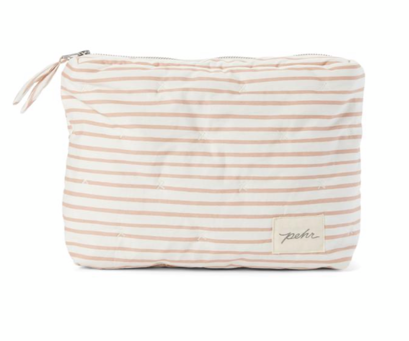 On the go travel pouch- rose pink