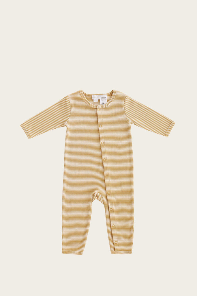 Stripe one piece- caramel stripe