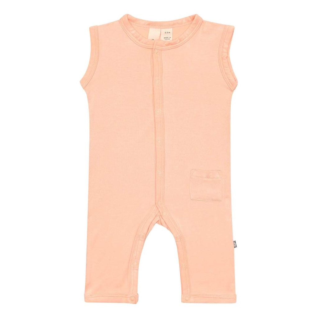 Sleeveless romper- papaya