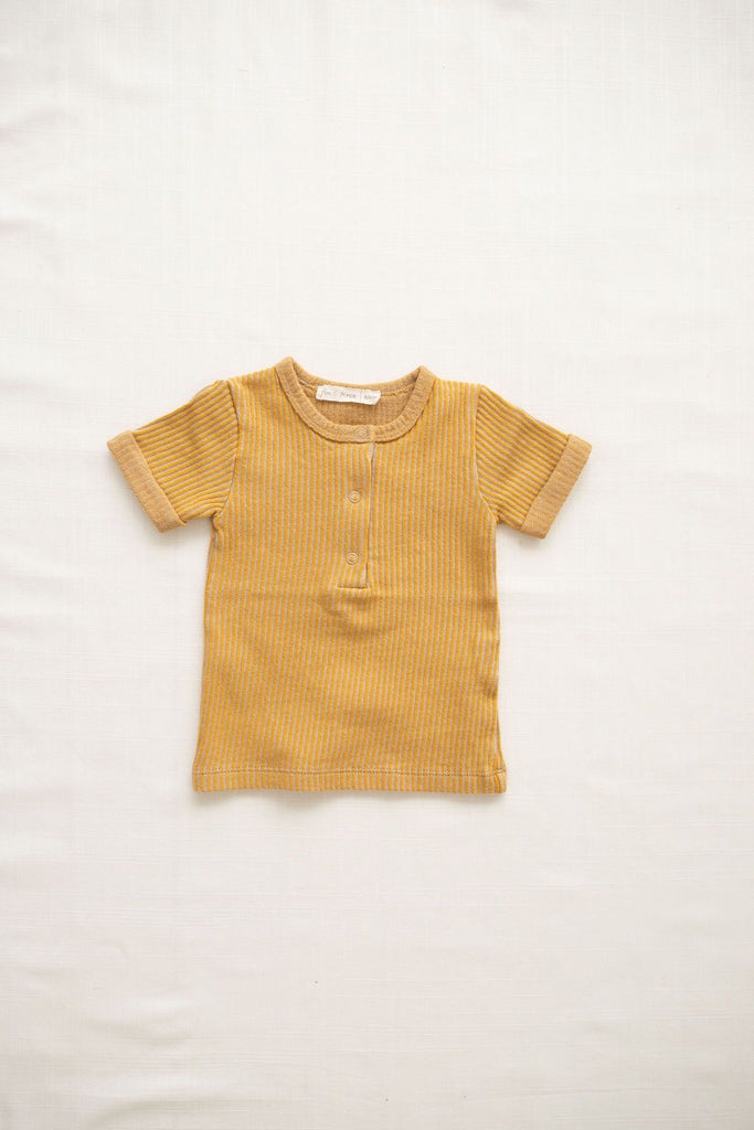 Terry snap tee- goldenrod