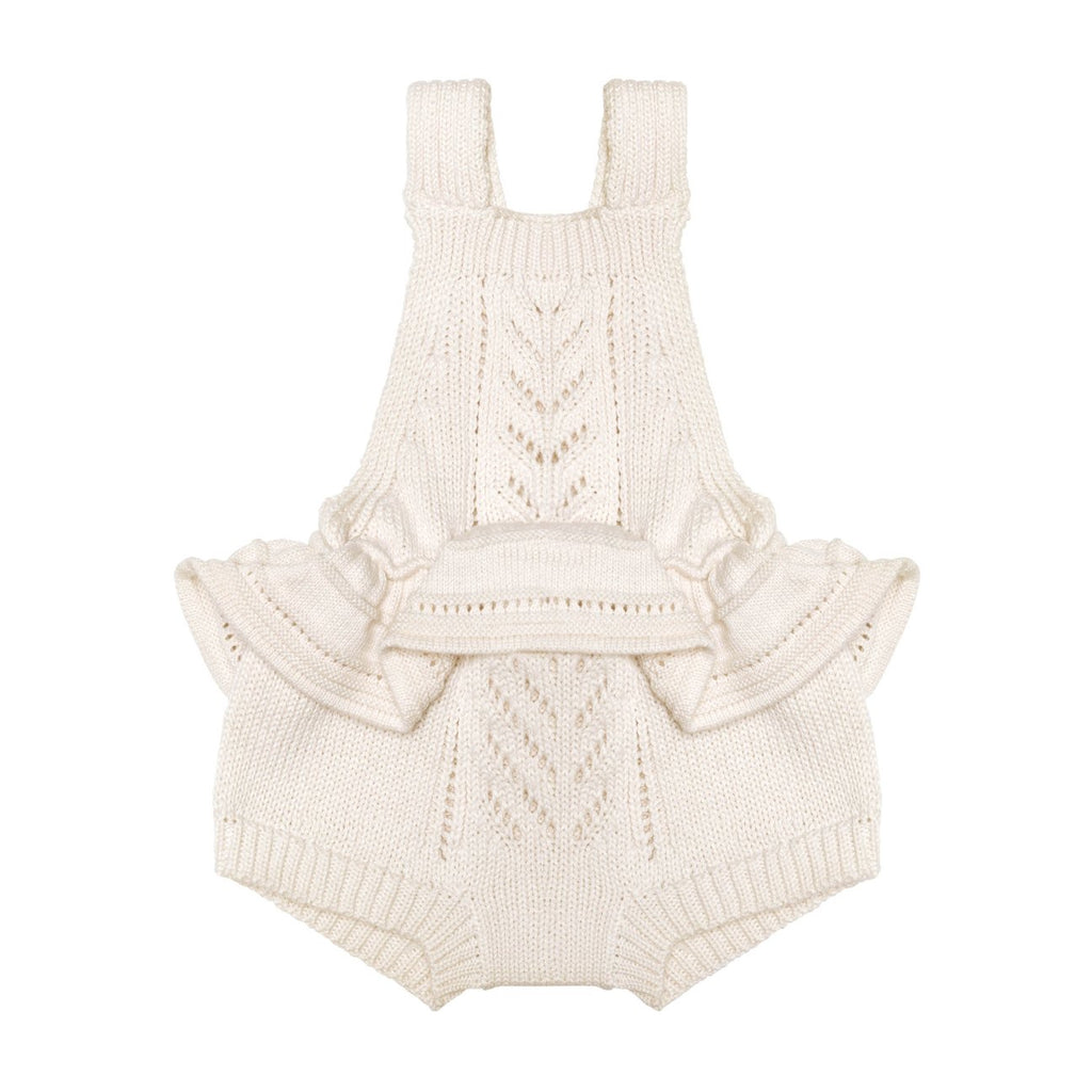 Ruby ruffle romper- natural