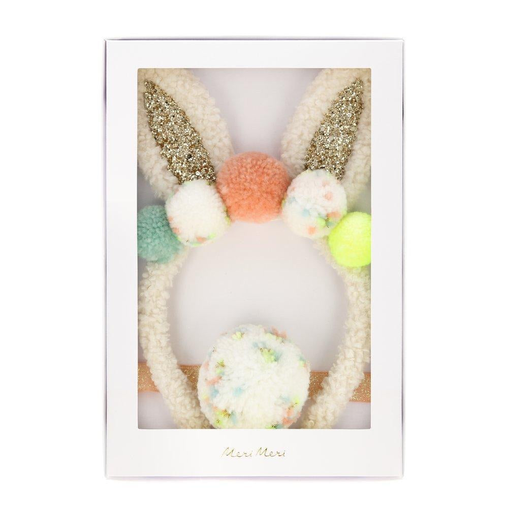 Pompom Bunny Ear Dress Up
