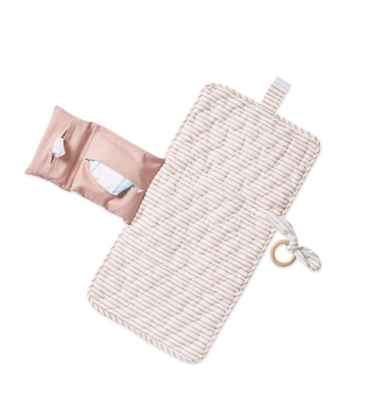 On The Go Travel Change Pad- rose pink