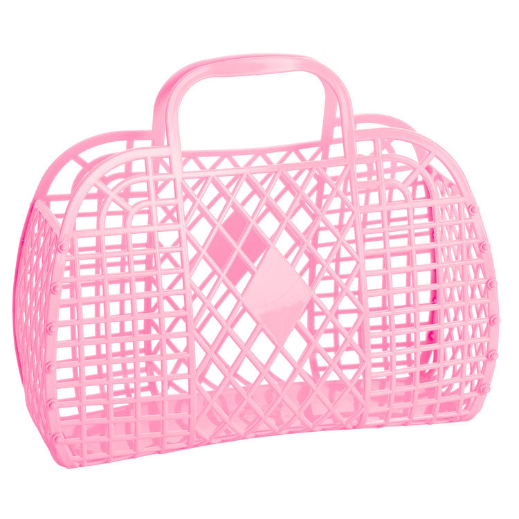 RETRO BASKET - Large Bubblegum pink