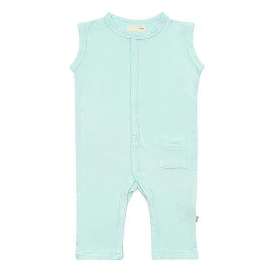 Sleeveless romper- sea mist