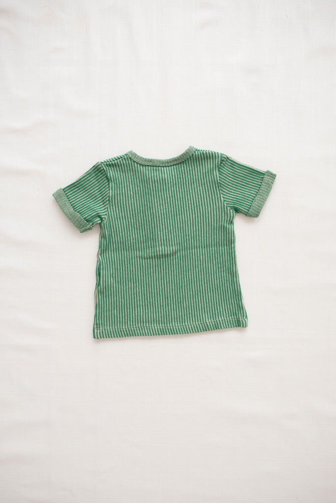 Terry snap tee-emerald