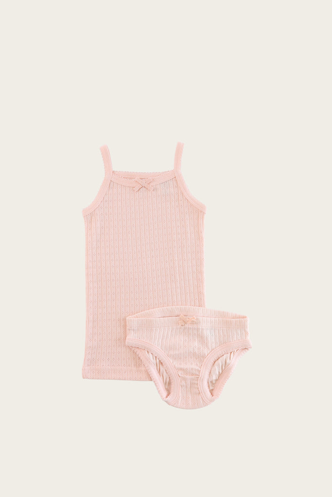 Pointelle underwear set- peach