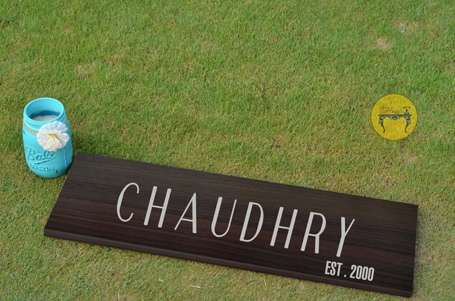 CHAUDHRY - Family Name Plaque