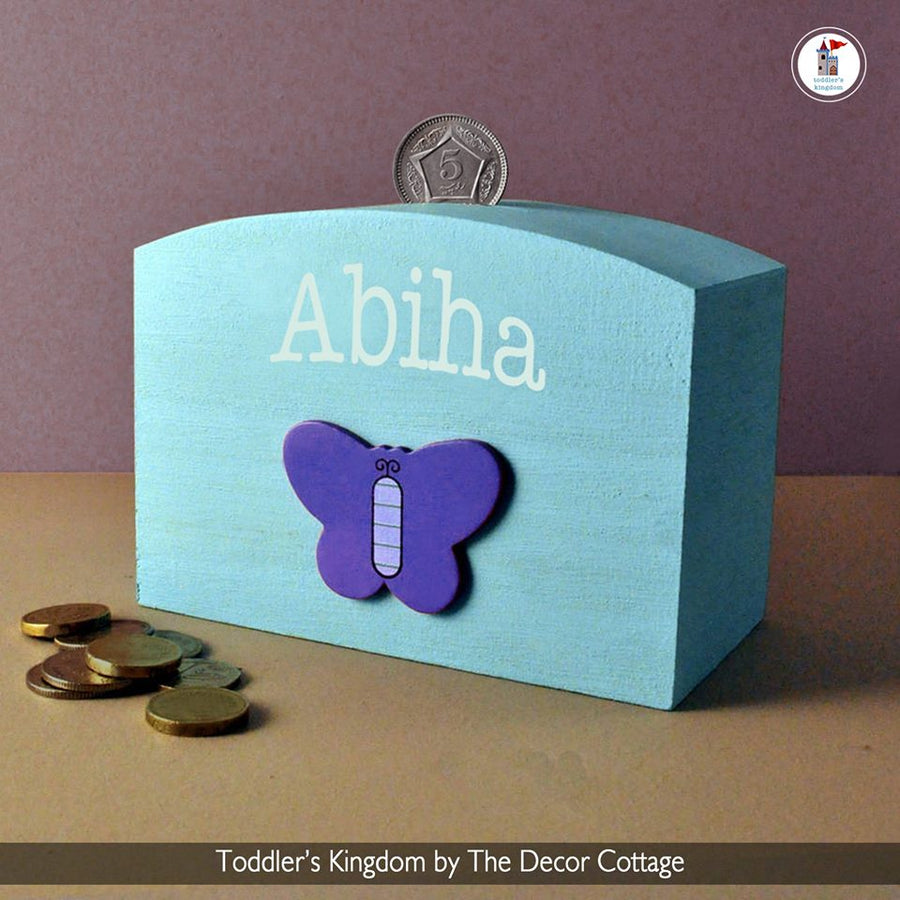 Personalized Butterfly Moneybox