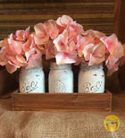 Pink Bloom - Mason Jar Set