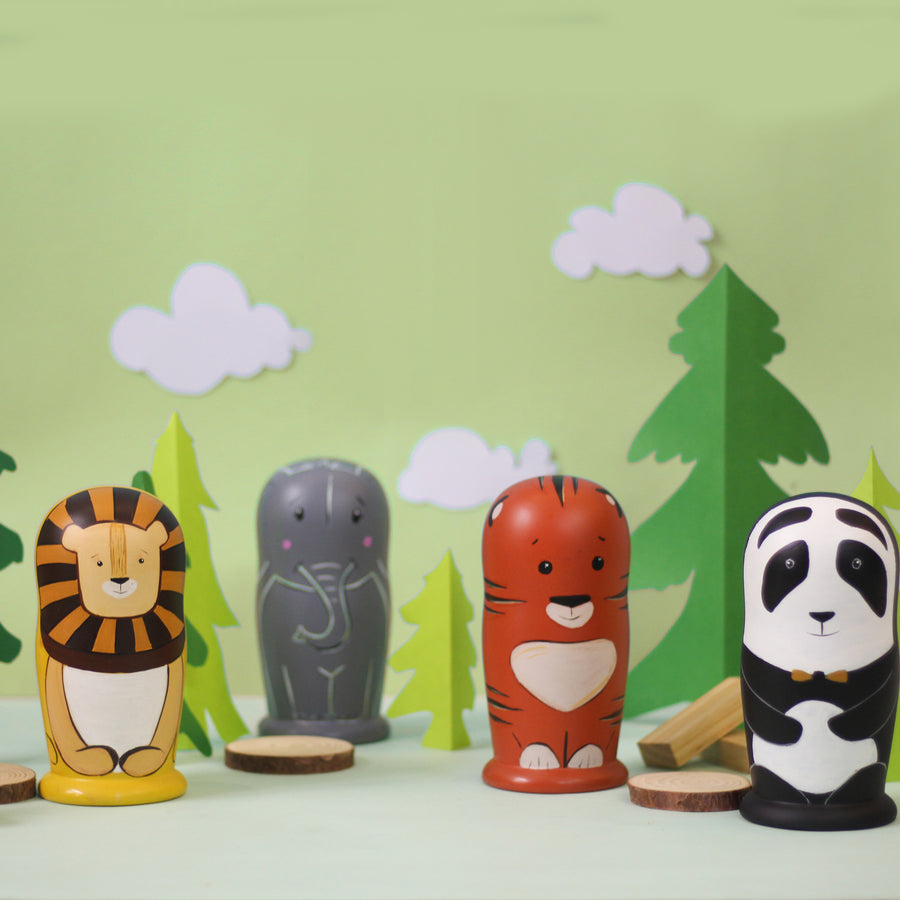 Who's in the Forest? Set of 7 Peg Dolls