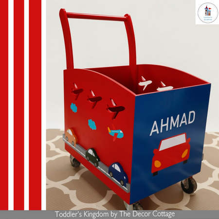 Little Red Car Themed Toy Cart