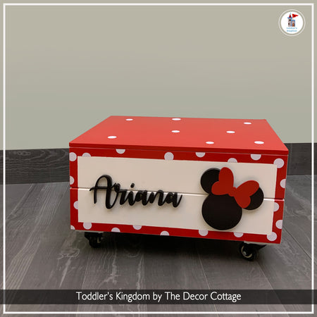 The Minnie Affair Toy Box on wheels