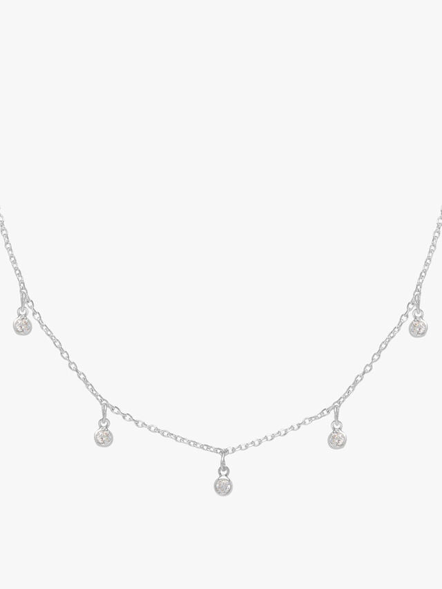 Estella Bartlett Multi Round Necklace Silver