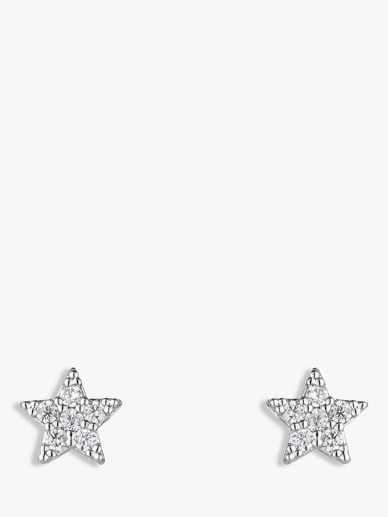 Estella Bartlett Star Stud Earrings, Silver