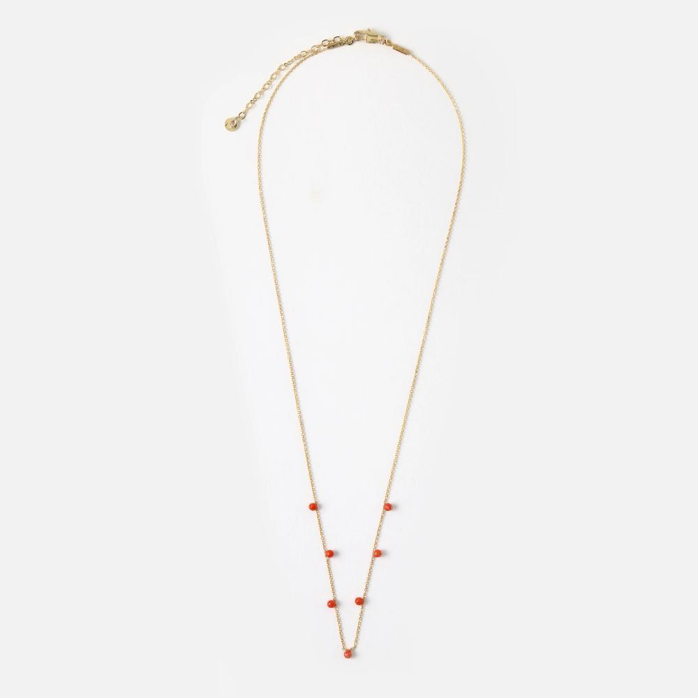 Orelia Fine Chain Semi Precious Stone Necklace