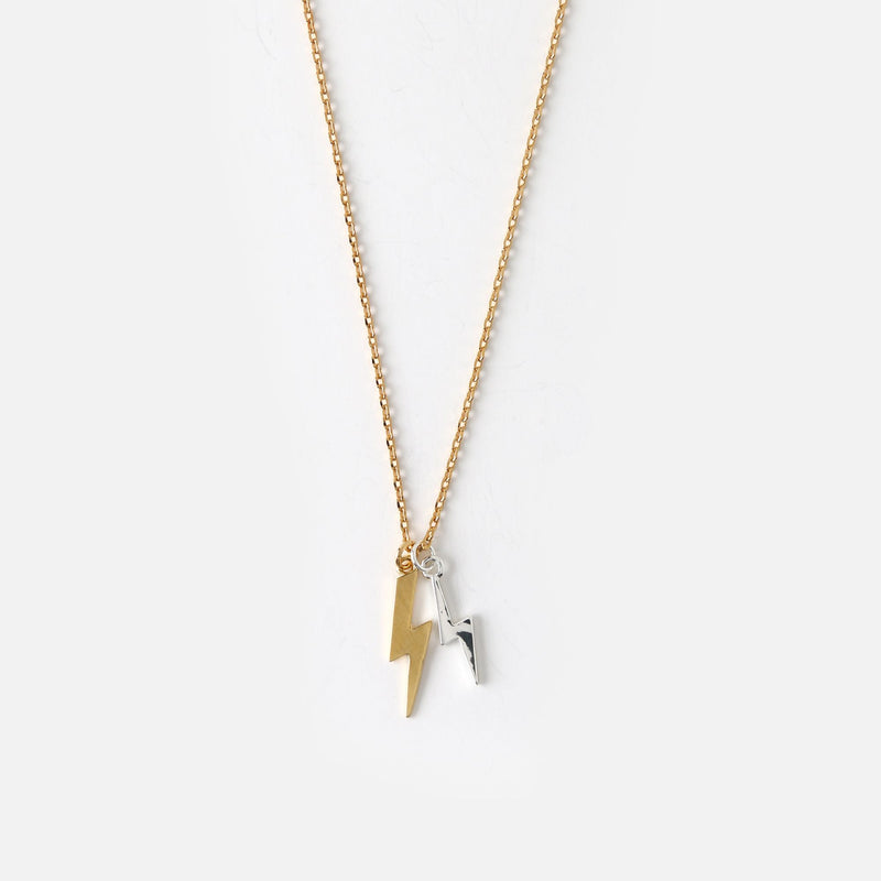 Orelia Double Lightening Ditsy Necklace Pale Gold