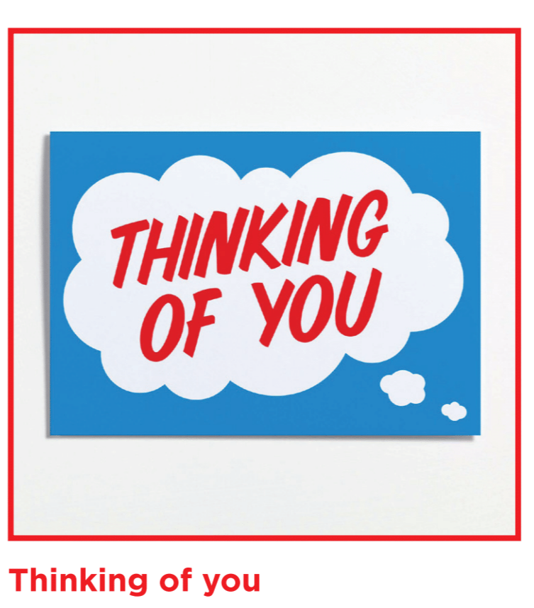 Crispin Finn Thinking of you Card