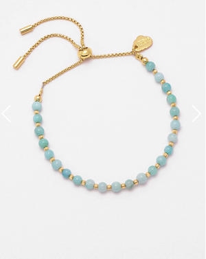 Estella Bartlett Amelia Bracelet - Gold Plated Amazonite