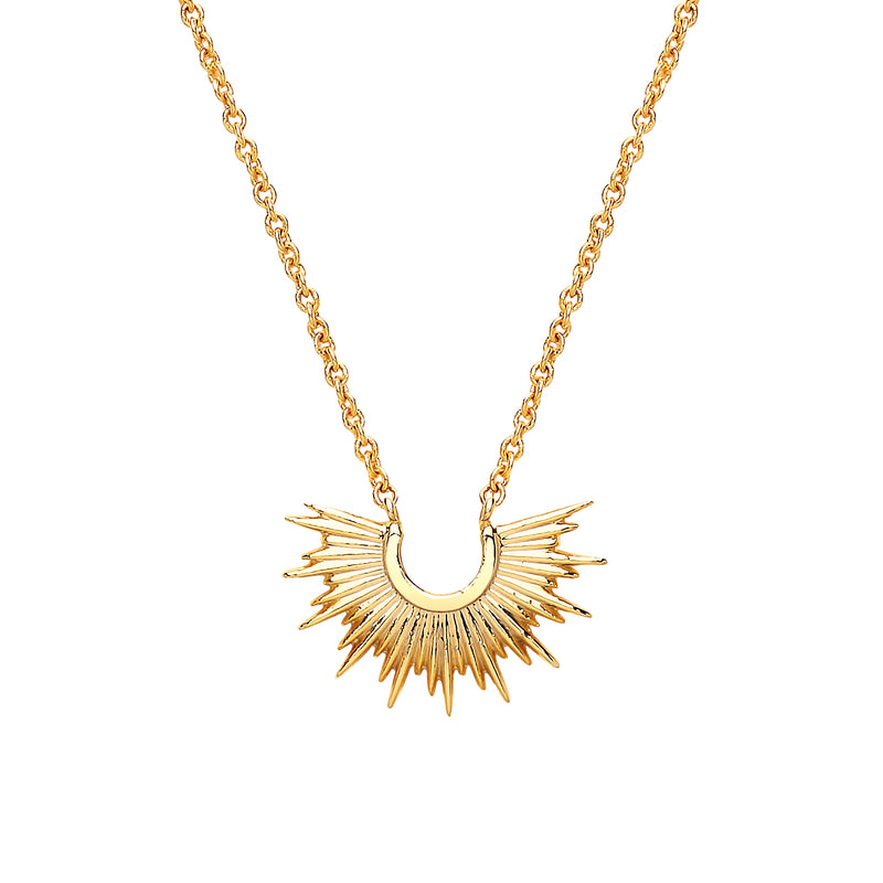 Estella Bartlett Gold Plated Half Sunburst Necklace