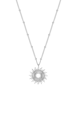 Estella Bartlett Silver Plated Sunburst Necklace