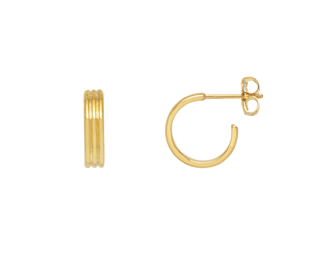 Estella Bartlett Corrugated Hoop Earrings