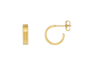 Estella Bartlett Corrogated Hoop Earrings