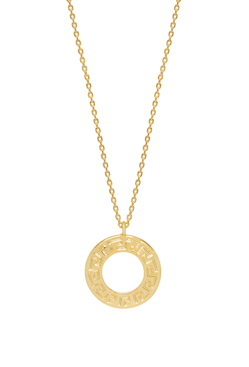 Estella Bartlett Gold Plated Geometric Circle Necklace