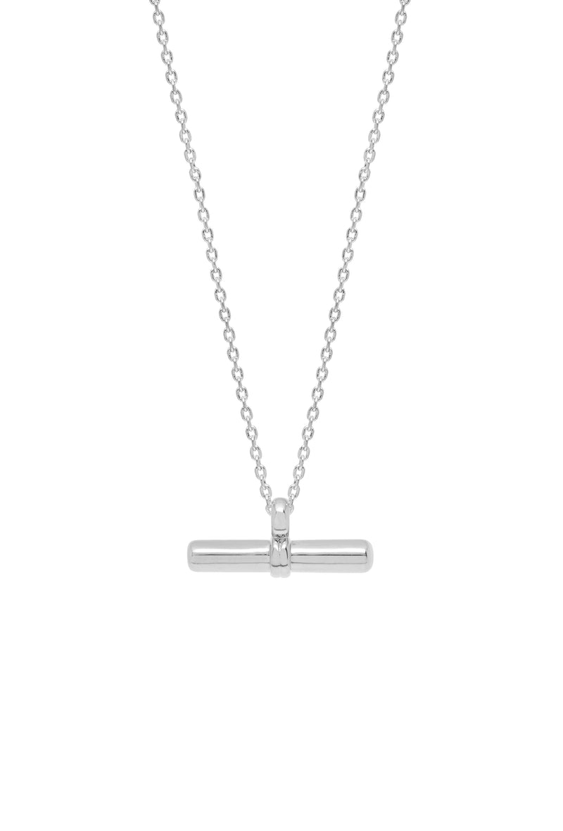 Estella Bartlett Silver Plated T-Bar Necklace