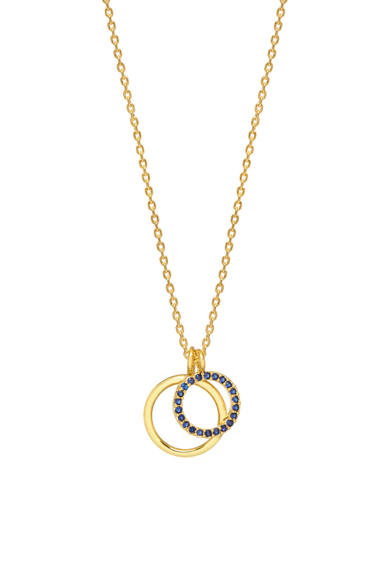 Estella Bartlett Gold Plated Double Circle Necklace