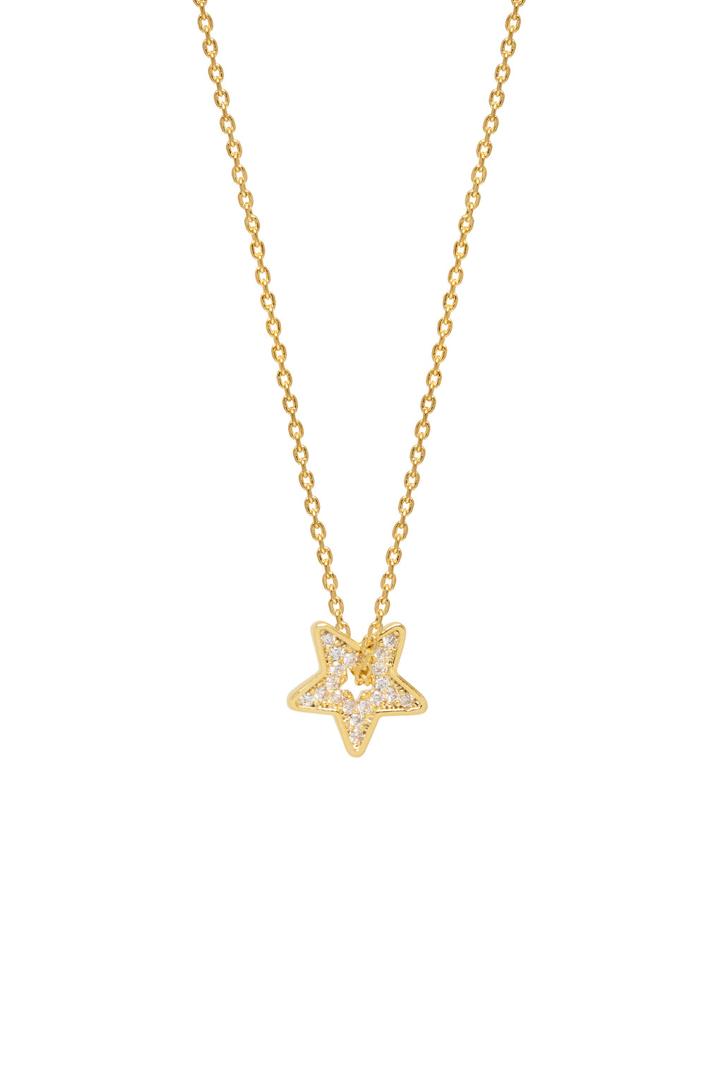 Estella Bartlett Twinkling CZ Star Necklace