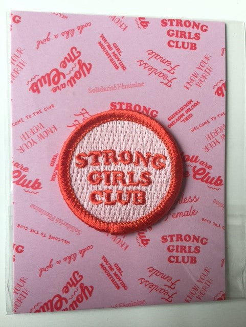 Strong Girls Club Sew on Patch