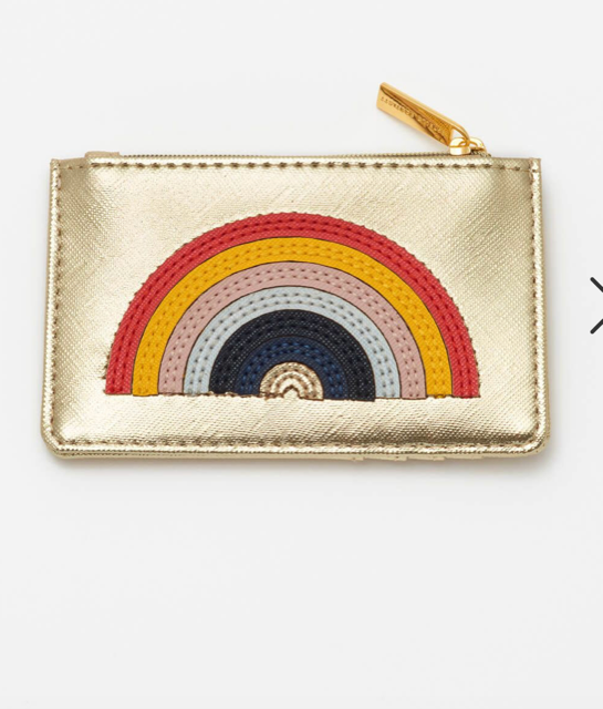 Estella Bartlett Gold Rainbow Applique Card Purse