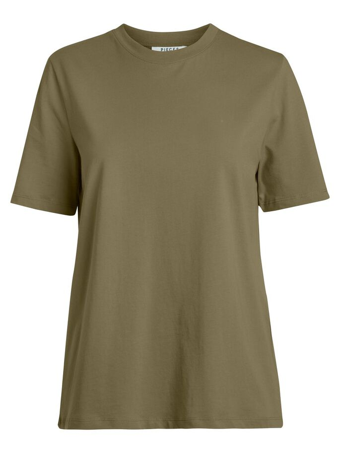 Pieces Organic Olive Cotton T Shirt