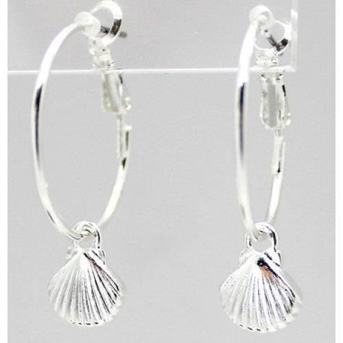 Small Metal Shell Drop Earrings