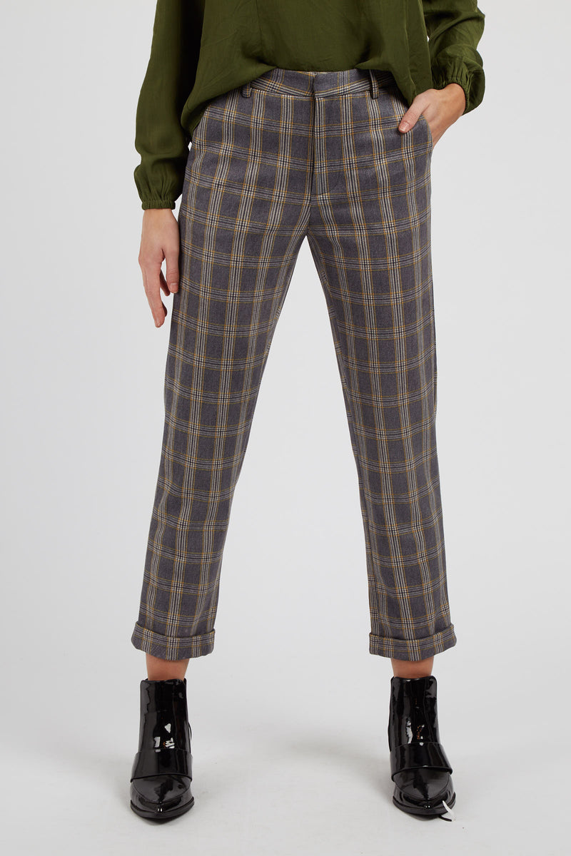 Louche Jaylo Clan check trouser multi