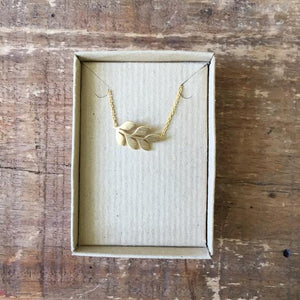 Sixton Holiday Leaf Necklace