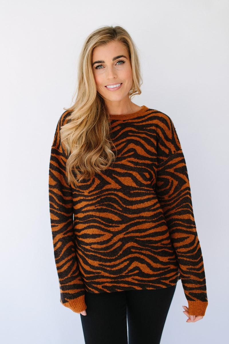 Sugarhill Brighton Livvy Big Cat Tiger Sweater