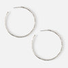 Orelia London Hammered Hoop Earrings