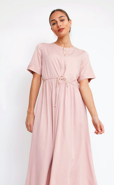 Pieces Laoise Short Sleeve Midi Dress
