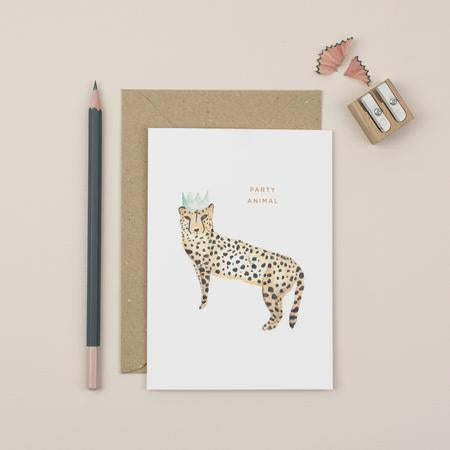 Plewsy Party Animal Greetings Card