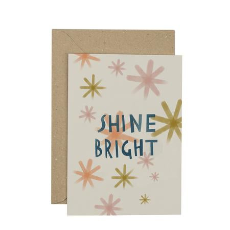 Plewsy Shine Bright Greetings Card