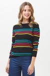 Sugarhill Brighton Rita Paradise Stripe Rainbow Sweater